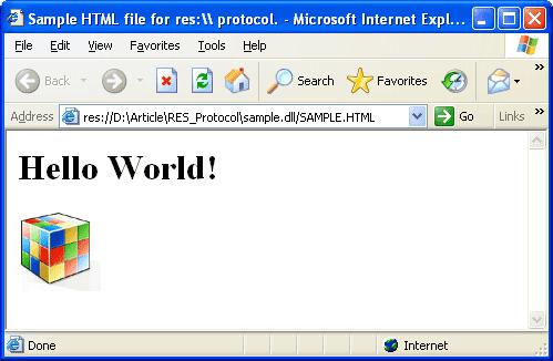 HTML ресурсы в DLL и res:// протокол.